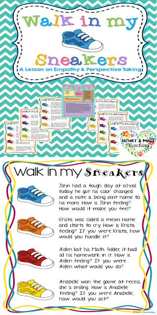 https://www.teacherspayteachers.com/Product/Walk-in-my-sneakers-empathy-activity-Social-emotional-learning-social-skills-2708037